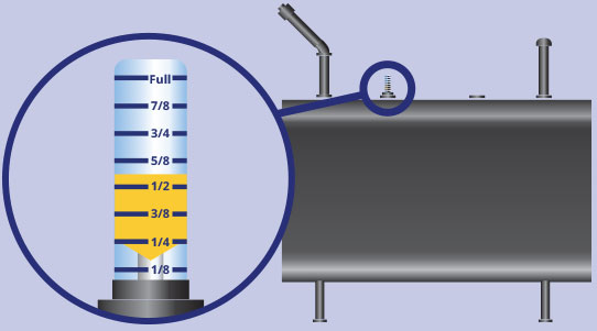 Reading your heating oil tank gauge and reordering home heating oil